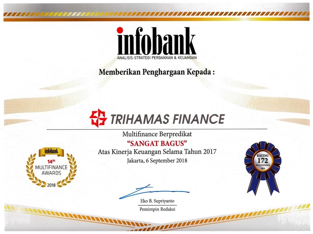 """Trihamas Finance Meraih """"Infobank Multifinance Awards 2018"""""""