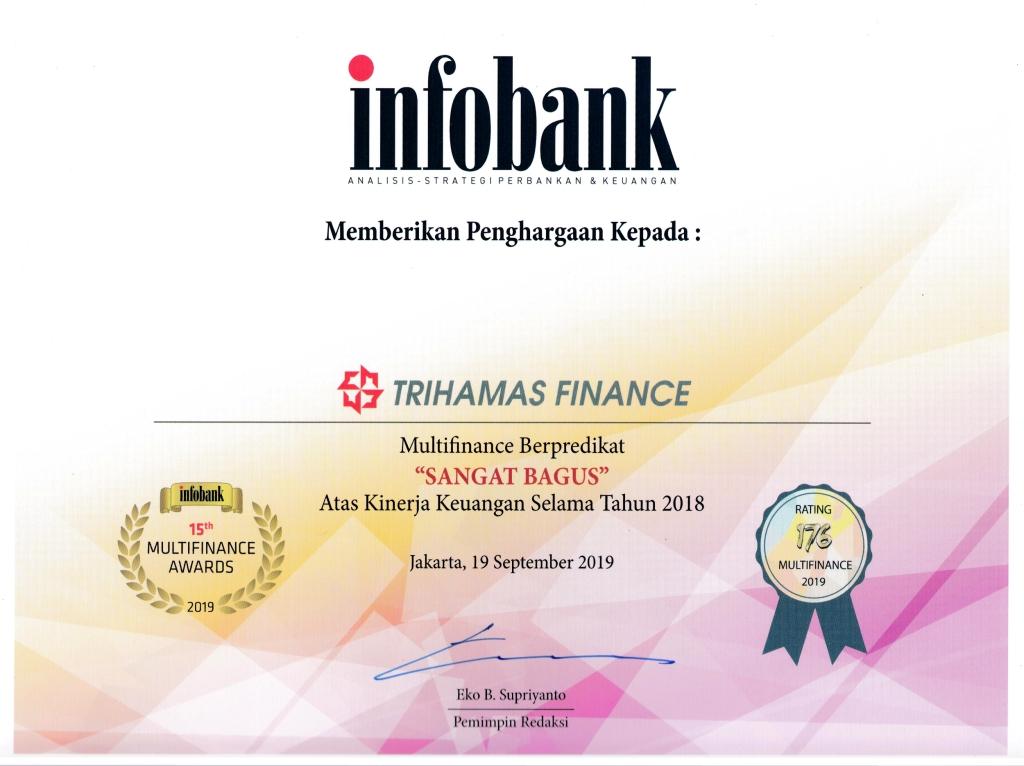 """Trihamas Finance Raih """"Infobank Multifinance Awards 2019″"""